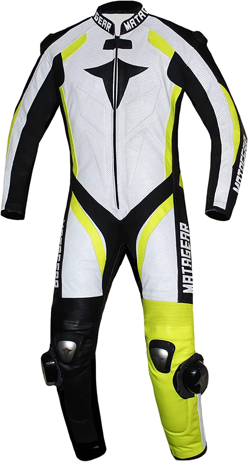 Motorcycle New Yellow One Direct sale of manufacturer Piece Leather Suit Max 55% OFF CE App Track Racing