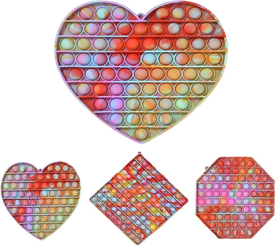 Fidget Toy Pop It Übergroß Rainbow Brettspiele Stress Reliever Spielzeug Autismus Stressabbau Spielzeug Pop Pop Bubble Fidget Sensory Toys