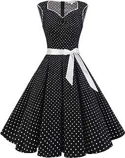 Gardenwed 1950s Vintage Dresses Cocktail Dresses for Women Retro Rockabilly Party Swing Dress