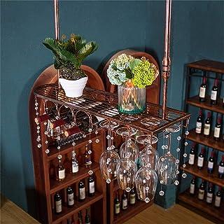 Organisation de rangement de cuisine Support mural industriel pour bouteilles de vin en métal forgé Loft suspendu Comptoir...