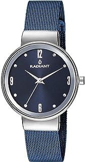 Reloj Radiant Mujera en acero azul malla milalnesa. RA402607