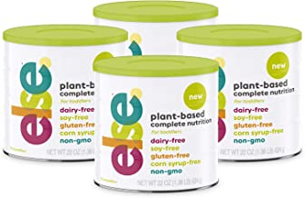 (4-Pack) Else Plant-Based Complete Nutrition Formula for Toddlers 12 mo.+, 22 Oz., Dairy-Free, Soy-Free, Corn-Syrup Free, ...