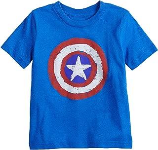 Little Boys' Toddler 2T-5T Captain America Shield Tee