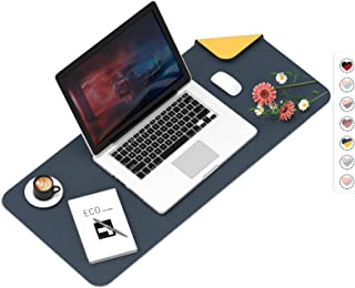 Mouse Pad, Desk Mat, Large Leather Desk Pad, Dual-Sided PU pad Waterproof Mouse Pad for Laptop, Office Table Protector Blo...