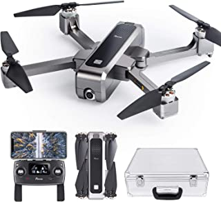 Potensic D88 Foldable Drone, 5G WiFi FPV Drone with 2K Camera, RC Quadcopter for Adults and Experts, GPS Return Home, Ultrasonic Altitude Setting, Optical Flow Positioning, Brushless Motors with Case