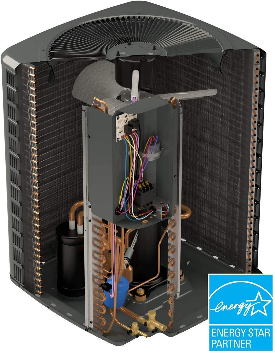 Whip Disconnect Condenser pad and Thermostat +Accessories GSZ140301 CAPF3137B6 GMVC960803BN 28k BTU Complete Split Heat Pump System Goodman 14.5 SEER 2.5 TON 96/% AFUE