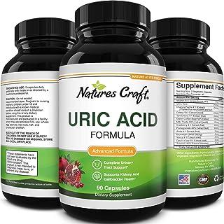 Natures Craft Uric Acid Formula - Uric Acid Detox Cleanse Decrease Acidity - Pure Green Coffee Bean - Chanca Piedra - Vita...