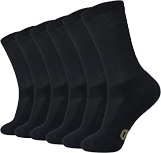 MD 6 Pack Soft Men and Women Antibacterial Bamboo Fiber Crew Casual Socks