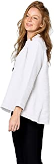 Focus Fashion Women's Lightweight Cotton Waffle Knit Swing Jacket SW-206
