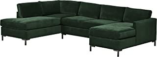 Best dobson black leather modern sectional sofa Reviews