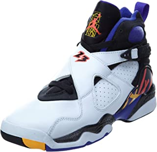 Nike Boys Air Jordan 8 Retro BG 3 Peat White/Infrared 23-Black Leather Size 3.5Y