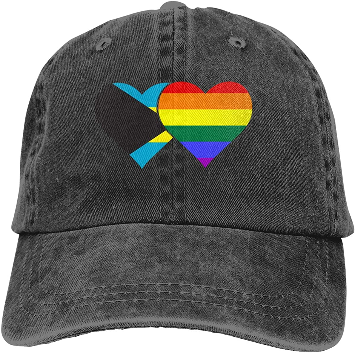 Bahamas Flag LGBT Flag Denim Hat Adjustable Plain Cap Baseball Caps