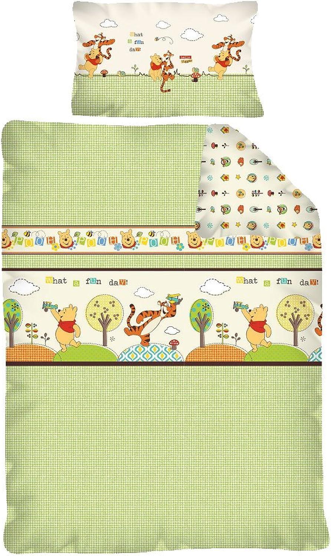 Winnie Pooh FUN DAY Baby Bettwäsche Garnitur 100 x 135   40 x 60 cm B00H2SUV6G