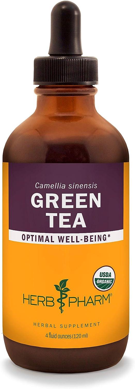 Herb Pharm Certified Organic Green Tea Sale price Liquid Ounce Extract 4 - Product