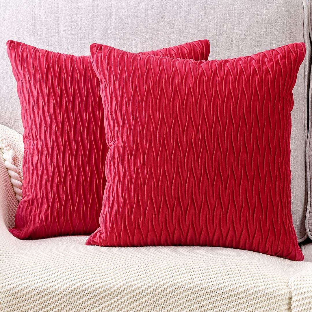 MADIZZ Pack of 2 Super Soft Popular brand Decorative Velvet Pillow Cover New York Mall Throw