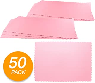 SparkSettings Disposable Paper Placemat for Dining Table Easy to Clean Made of Paper Great for Various Party, Events, Festivals or Occasions - New Pink (50/Pack)