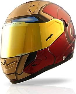 iron man dot motorcycle helmet