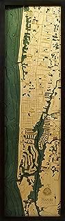 Naples, Florida 3-D Nautical Wood Chart, 13.5