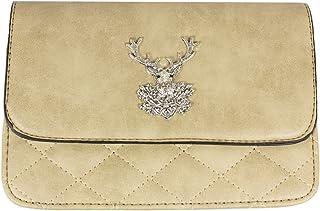 Trachtenland - Umhängetasche Gesteppt mit Edelweiß oder Hirsch Applikation - Trachten Dirndl Handtasche