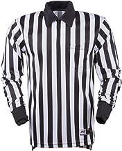 3N2 7006-XXXL Referee Shirt Long Sleeve Football44; Black and White - 3 Extra Large