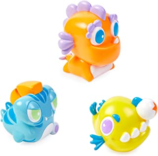 Bling Buddiez Floating Water Toys for Bath Tubs and Pools - 3 Pool and Bath Toys for Toddlers & Kids with Reusable Carrying Case - Sea Guy Buddiez
