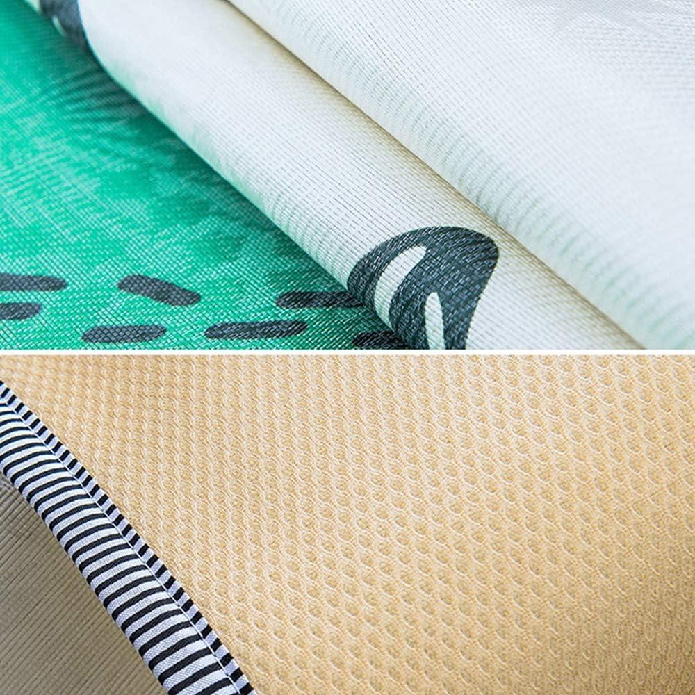 ChengLao- Tapis de couchage en bambou carbonisé, tapis dessin animé chambre étudiant Impression simple 90cm de soie glace pliable perméable à l'air (23 modèles) (Color : E) V