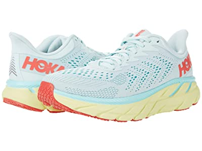 Hoka One One Clifton 7 (Morning Mist/Hot Coral) Women