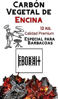 Carbón Vegetal Ecologico de Encina, para Barbacoas 12 Kg, Procedente de la Poda de Dehesas, Especial Barbacoas y Restaurantes. (Carbon 12Kg)