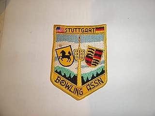 Military Patch Older German Made Bowling Germany Stuttgart Bowling Association