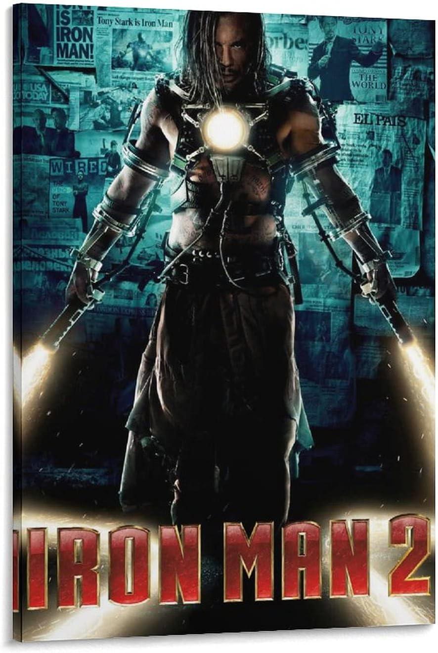 taokou Classic Movie Iron Man 2 P Deco Art Overseas parallel import regular item Print PosterHD Canvas Regular dealer