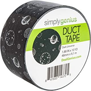 Simply Genius (Single Roll) Patterned and Colored Duct Tape Roll Craft Supplies for Kids Adults Patterned Duct Tape Colors, Dark Universe