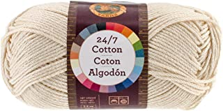 Lion Brand Yarn 761-098 24-7 Cotton Yarn, Ecru