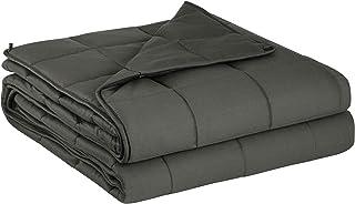 WOLTU Therapiedecke Gewichtsdecke-Schwere Decke für Erwachsene, Beschwerte Decke aus 100% Baumwolle mit Glasperlen für besseren Schlaf, gegen Stress/Schlafstörung, Weighted Blanket Grau 150x200cm 9kg