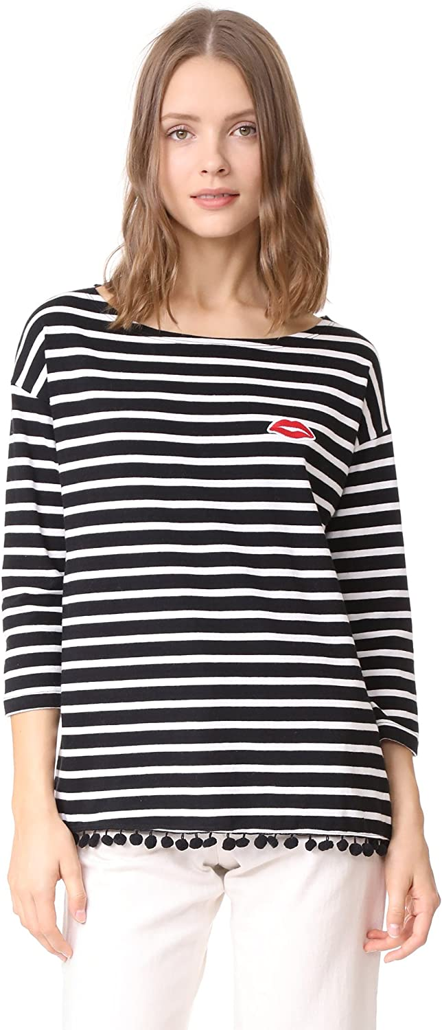 SUNDRY Women's Lips Stripe Tee