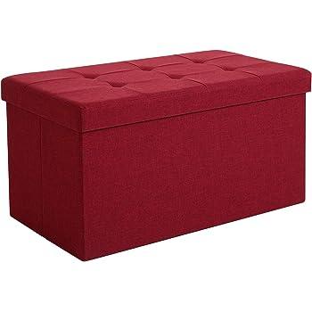 colore: beige esterno in similpelle morbida pieghevole Pouf portaoggetti imbottito D/&D Quality 76 x 38 x 38 cm carico massimo 300 kg