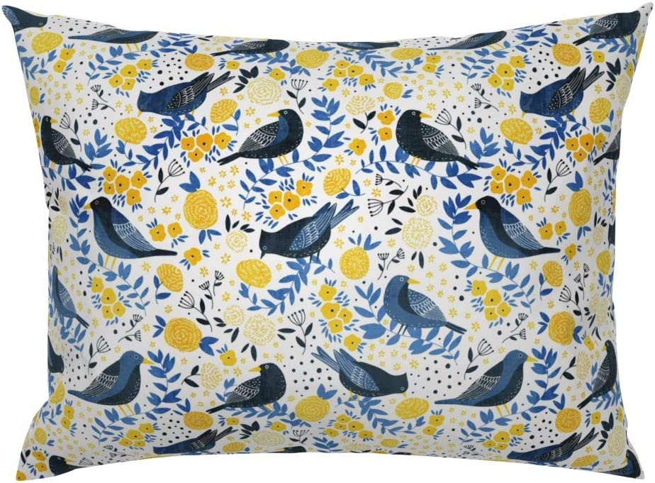 Scandinavian Birds by yuliia/_studzinska Scandi Animal Cotton Sateen Pillow Sham Bedding by Spoonflower Birds Pillow Sham