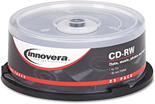 INVERA Innovera 78825 CD-RW Discs 700MB/80min 12x Spindle Silver 25/Pack