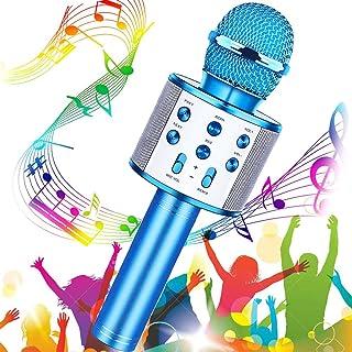 Microfono Inalámbrico Karaoke, Buty Micrófono Karaoke Bluetooth Infantil Portátil para Niños Altavoz Canta Partido Musica ...