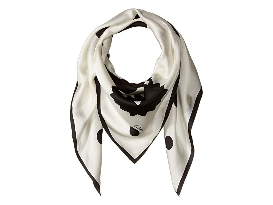 Echo Design Geometric Floral Silk Square Scarf (Black) Scarves