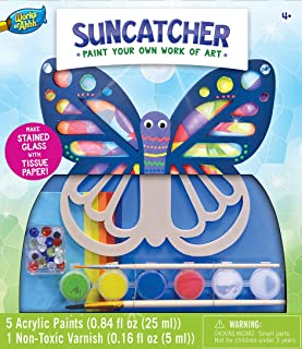 MasterPieces Works of Ahhh Real Wood Large Acrylic Paint & Craft Kit, Suncatcher, For Ages 4+
