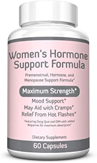 WOMEN'S HORMONE SUPPORT FORMULA – Extra Strength DIM 200mg with BioPerine, Dong Quai, Vitamin E, Balance Hormones, Estrogen Metabolism, Mood Support, PMS Relief, Menopause Relief, 2 Month Supply