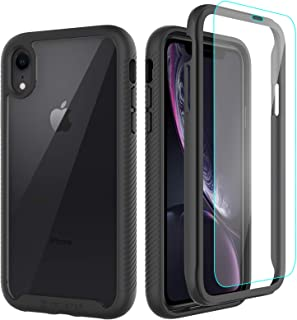 CellEver Compatible with iPhone XR Case, Clear Full Body Heavy Duty Protective Case Anti-Slip Full Body Transparent Cover ...