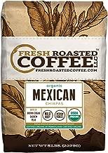 Fresh Roasted Coffee LLC, Organic Mexican Chiapas Coffee, USDA Organic, Medium Roast, Whole Bean, 5 Pound Bag