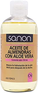 Sanon Cosmética Natural Aceite de Almendras con Aloe Vera 250 ml