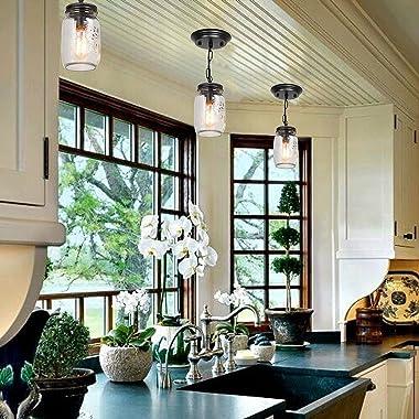 LIGHXSDZ Mason Jar Light Fixture 1-Light Flush Mount Ceiling Light Farmhouse Light Fixtures Industrial Vintage Ceiling Lamp f