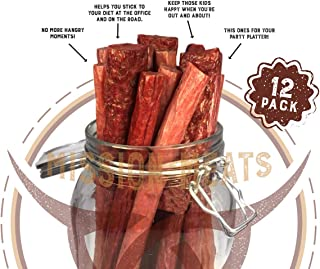 Keto Sugar Free Sampler Pack Grass Fed Beef Sticks & Bars Healthy Free Range Turkey Sticks Gluten MSG Nitrate & Nitrite Free Paleo Friendly Snacks Mission Meats