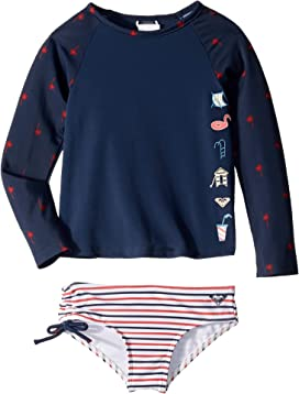 2018a41607a88 Chasing Love Teenie Long Sleeve Rashguard Swim Set (Toddler/Little Kids)