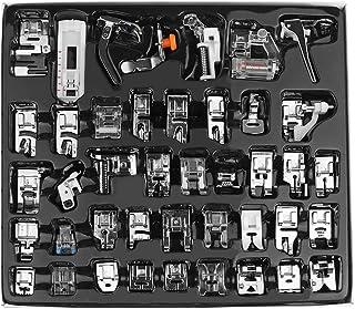 comprar comparacion Kit de prensatelas para máquina de coser, piezas de repuesto y accesorios para máquinas Brother o Singer (Set de 42 Piezas)