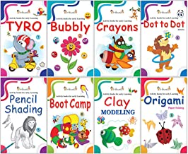 Activity Books Collection for Early Learning by InIkao Set of 8 Activity Books for Kindergarten kids