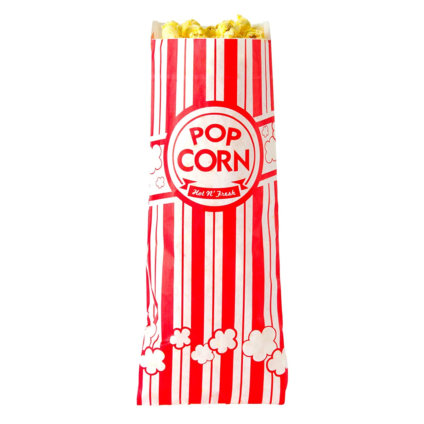Concession Essentials CE Popcorn Bags-500 Popcorn Bags, 1 oz. (Pack of 500), 2
